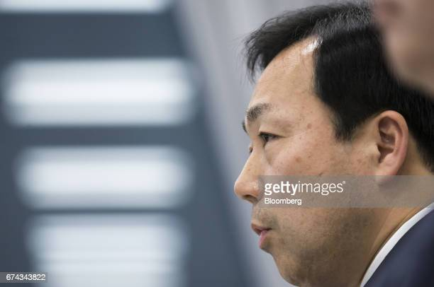 Masaki Yamauchi president of Yamato Holdings Co speaks during a news conference in Tokyo Japan on Friday April 28 2017 Yamato's shares gained the...