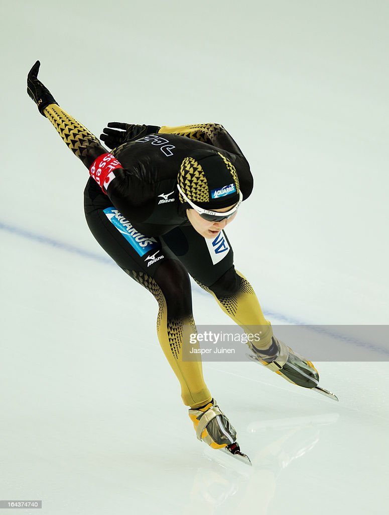 <a gi-track='captionPersonalityLinkClicked' href=/galleries/search?phrase=Masako+Hozumi&family=editorial&specificpeople=4037957 ng-click='$event.stopPropagation()'>Masako Hozumi</a> of Japan competes during the 5000m race on day three of the Essent ISU World Single Distances Speed Skating Championships at the Adler Arena Skating Center on March 23, 2013 in Sochi, Russia.
