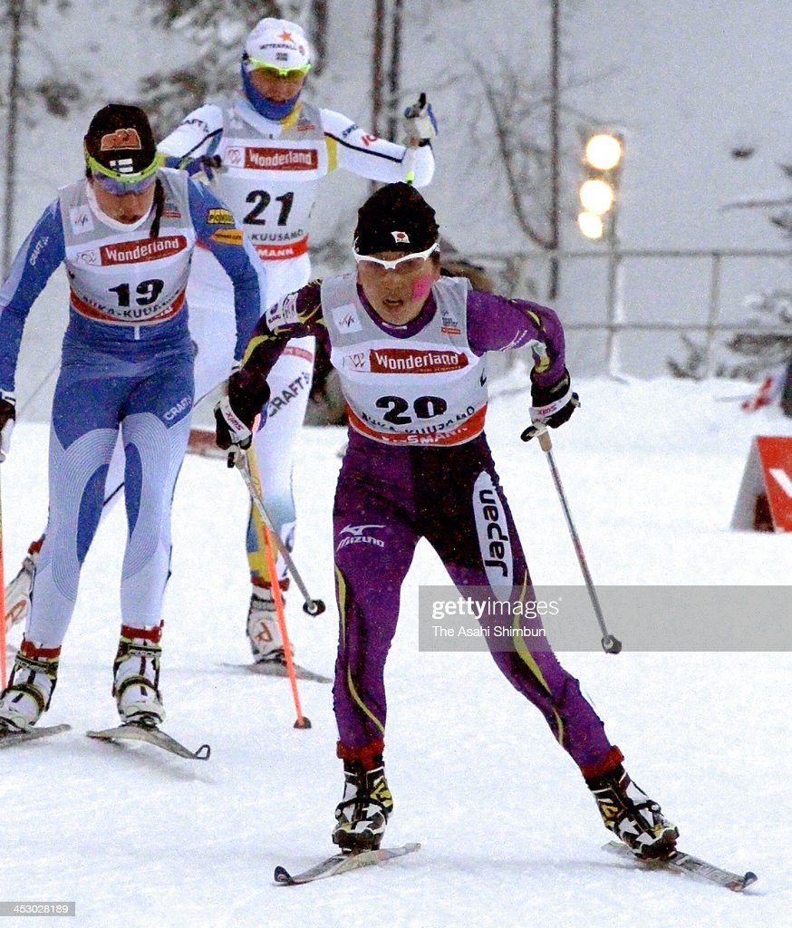 Masako Ishida of Japan competes in the Women's 10km Free during the FIS Cross Country World Cup on December 1, 2013 in Kuusamo, Finland.