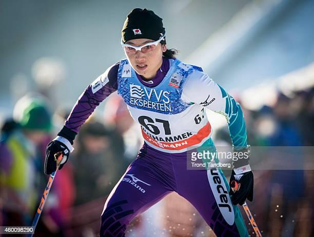 Masako Ishida of JPN during Ladies 5 km Free Individual start Cross Country at Birkebeineren Stadion on Desember 06 2014 in Lillehammer Norway