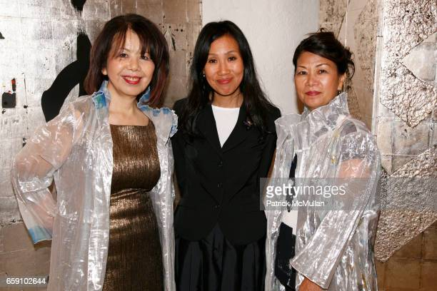 Masako Yuki Tomoko Yagi and Kiyoko Otsubo attend GALLERY GEN hosts an art opening for YOSHIAKI YUKI at OpenHouse on April 10 2009 in New York City