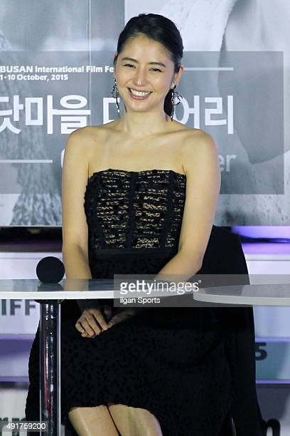 Masami Nagasawa attends Open Talk Session at BIFF Village on October 4 2015 in Busan South Korea