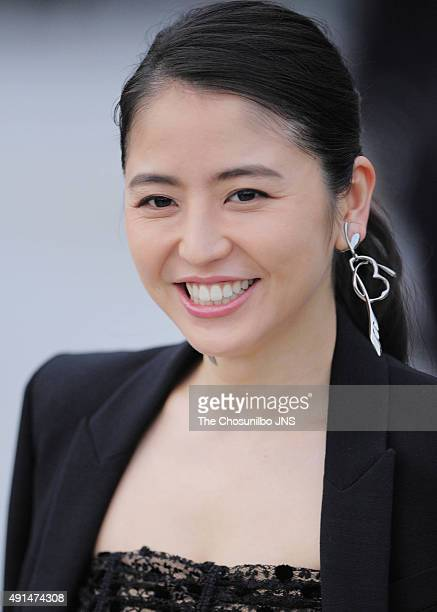 Masami Nagasawa attends the Open Talk Session at BIFF Village on October 4 2015 in Busan South Korea