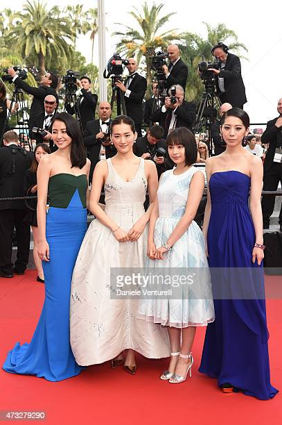 Masami Nagasawa Haruka Ayase Suzu Hirose and Kaho attend the 'Umimachi Diary' Premiere during the 68th annual Cannes Film Festival on May 14 2015 in...