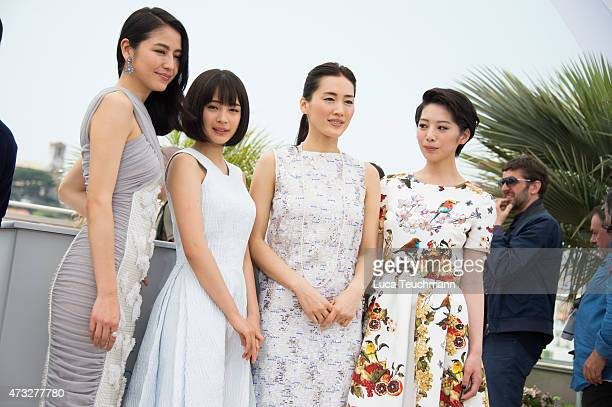 Masami Nagasawa Suzu Hirose Yaruka Ayase and Kaho attend the ''Notre Petite Soeur' photocal during the 68th annual Cannes Film Festival on May 14...