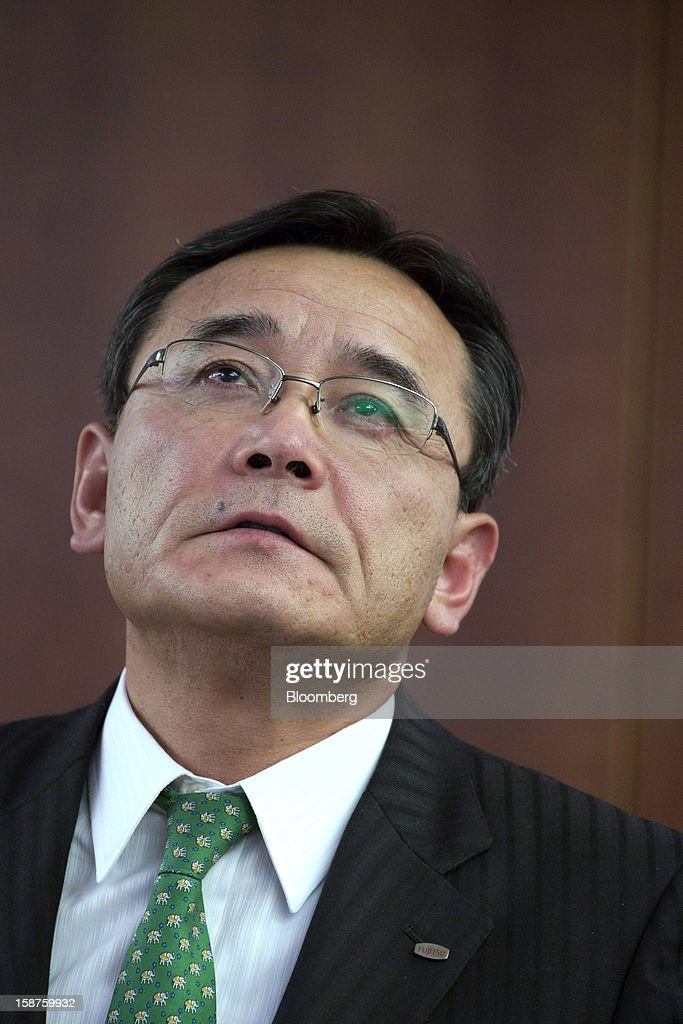 Masami Yamamoto, president of Fujitsu Ltd., pauses during an interview in Tokyo, Japan, on Thursday, Dec. 27, 2012. Fujitsu Ltd., Japan's biggest provider of computer services, said the company will miss its annual shipment target for personal computers as demand in Europe slumps amid the sovereign-debt crisis. Photographer: Noriyuki Aida/Bloomberg via Getty Images
