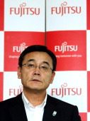 Masami Yamamoto president of Fujitsu Ltd speaks during a news conference in Tokyo Japan on Friday June 17 2011 Fujitsu Ltd expects net income to rise...