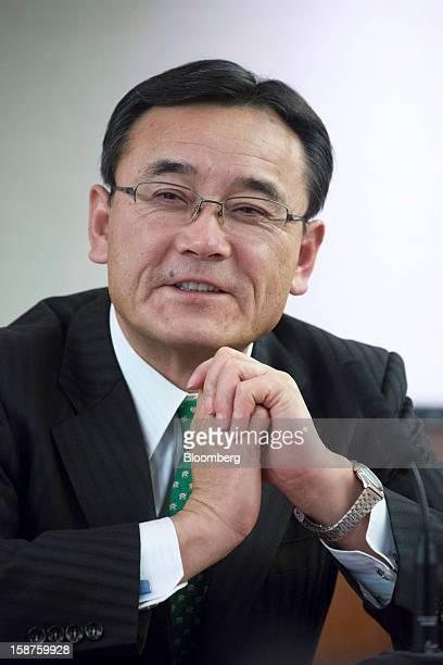 Masami Yamamoto president of Fujitsu Ltd speaks during an interview in Tokyo Japan on Thursday Dec 27 2012 Fujitsu Ltd Japan's biggest provider of...