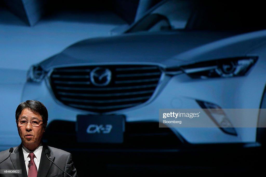 Mazda Motor Corp. CEO Masamichi Kogai Launches CX-3