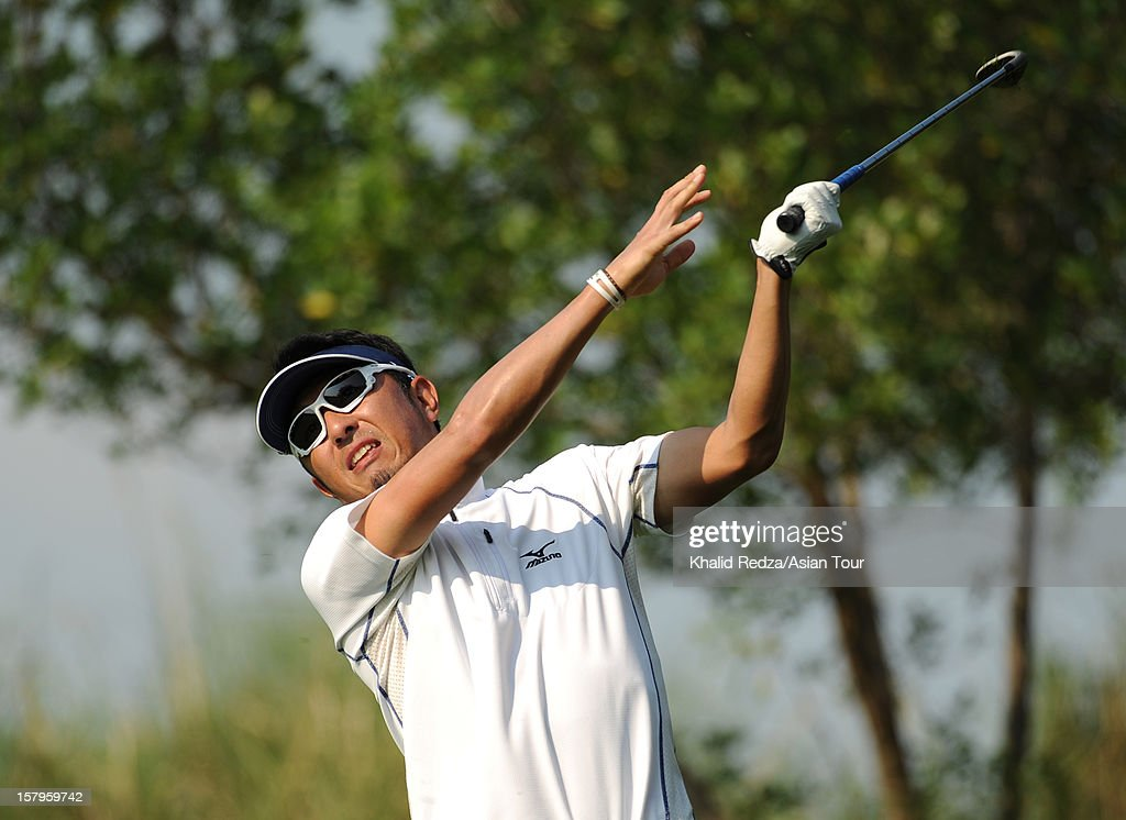 Masanori Kobayashi of Japan in action during round three of the Thailand Golf Championship at Amata Spring Country Club on December 8, 2012 in Bangkok, Thailand.