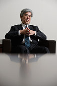 Masanori Koguchi chief financial officer of Mitsubishi Heavy Industries Ltd speaks during an interview in Tokyo Japan on Monday May 13 2016...