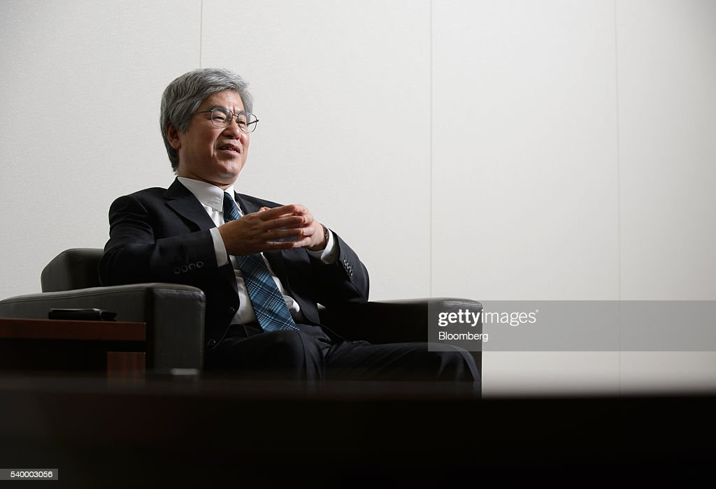 Masanori Koguchi chief financial officer of Mitsubishi Heavy Industries Ltd speaks during an interview in Tokyo Japan on Monday May 13 2016...