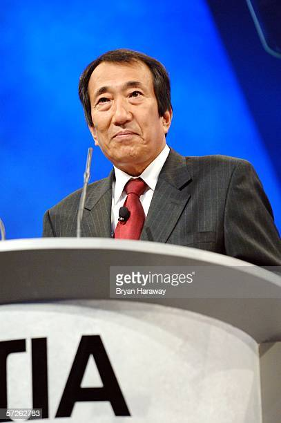 Masao Nakamura president and CEO of NTT DoCoMo speaks during his keynote speach for the 2006 Cellular Telecommunications Internet Association...