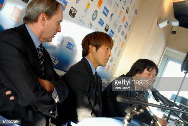 M MAZE Masashi OGURO Kazuyoshi TANABE Grenoble Conference de presse au GF 38