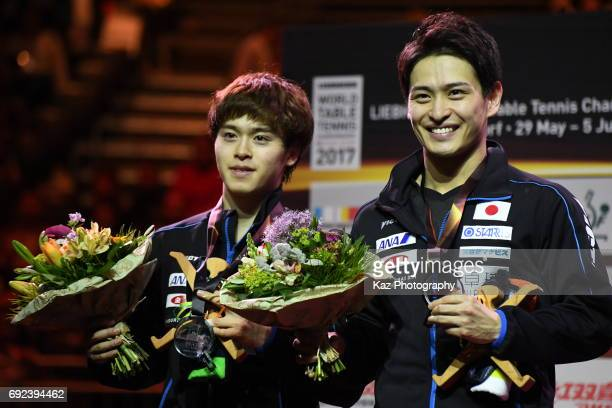Masataka Morizono and Yuya Oshima of Japan won the silver medal for the first time in 48 years at Messe Duesseldorf on June 4 2017 in Dusseldorf...