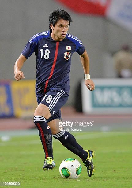 Masato Kudo of Japan in action during the international friendly match between Japan and Guatemala at International Stadium Yokohama on September 6...