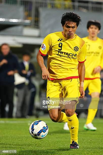 Masato Kudo of Kashiwa Reysol in action during the AFC Champions League Group E match between Kashiwa Reysol v Shandong Luneng FC at Hitachi Kashiwa...