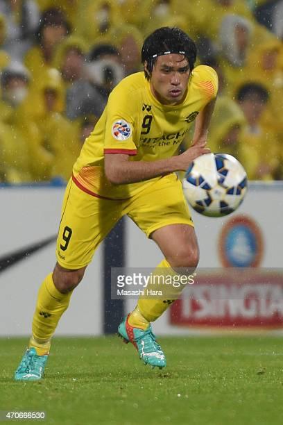 Masato Kudo of Kashiwa Reysol in action during the AFC Champions League Group E match between Kashiwa Reysol and Jeonbuk Hyundai Motors at Hitachi...