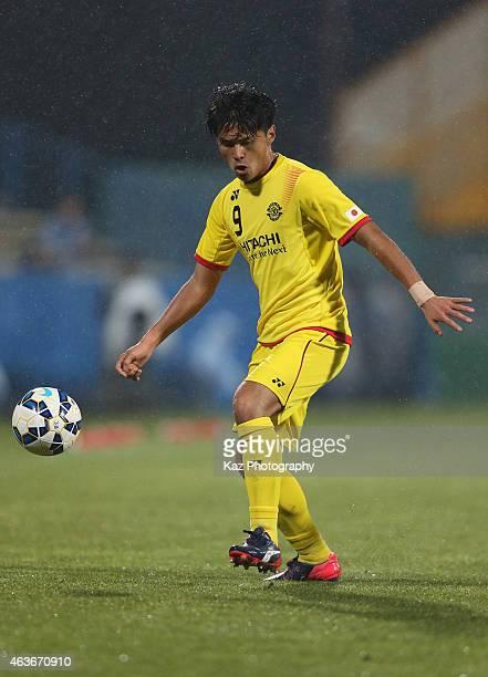 Masato Kudo of Kashiwa Reysol in action during the AFC Champions League playoff match between Kashiwa Reysol and Chonburi FC at Hitachi Kashiwa...
