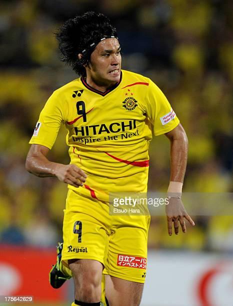 Masato Kudo of Kashiwa Reysol in action during the JLeague match between Kashiwa Reysol and Sagan Tosu at Hitachi Kashiwa Soccer Stadium on August 3...