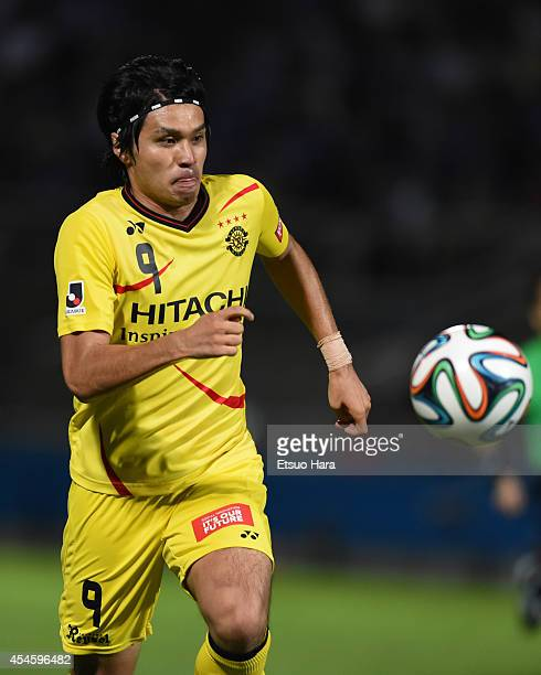 Masato Kudo of Kashiwa Reysol in action during the JLeague Yamazaki Nabisco Cup semifinal first leg match between Yokohama FMarinos and Kashiwa...