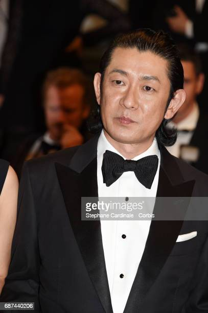 Masatoshi Nagase attends the 'Hikari ' premiere during the 70th annual Cannes Film Festival at Palais des Festivals on May 23 2017 in Cannes France