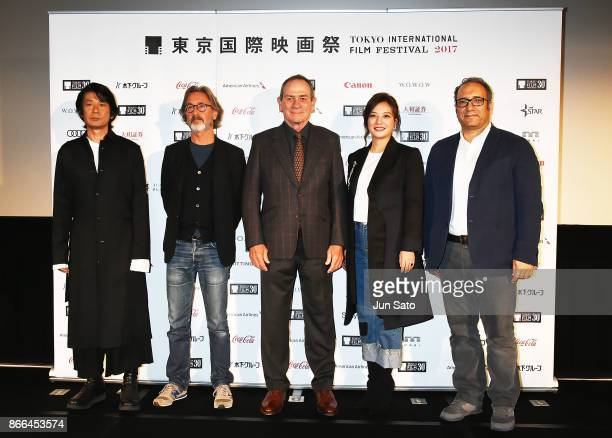 Masatoshi Nagase Martin Provost Tommy Lee Jones Zhao Wei and Reza Mirkarimi attend an international Jury members press conference of the 30th Tokyo...