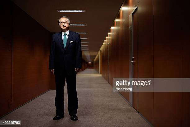Masatsugu Nagato president of Japan Post Bank Co poses for a photograph in Tokyo Japan on Tuesday Oct 27 2015 Japan Post Bank whose debut as a public...