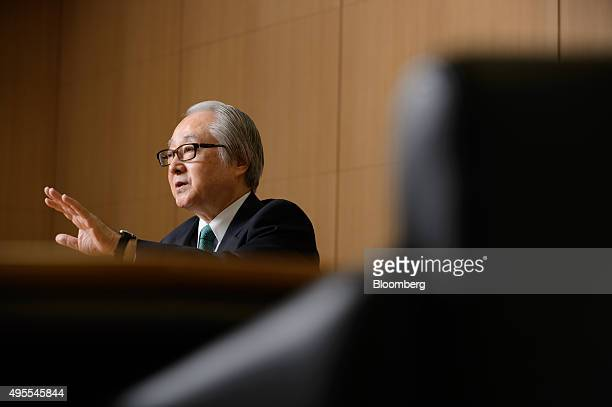Masatsugu Nagato president of Japan Post Bank Co speaks during an interview in Tokyo Japan on Tuesday Oct 27 2015 Japan Post Bank whose debut as a...