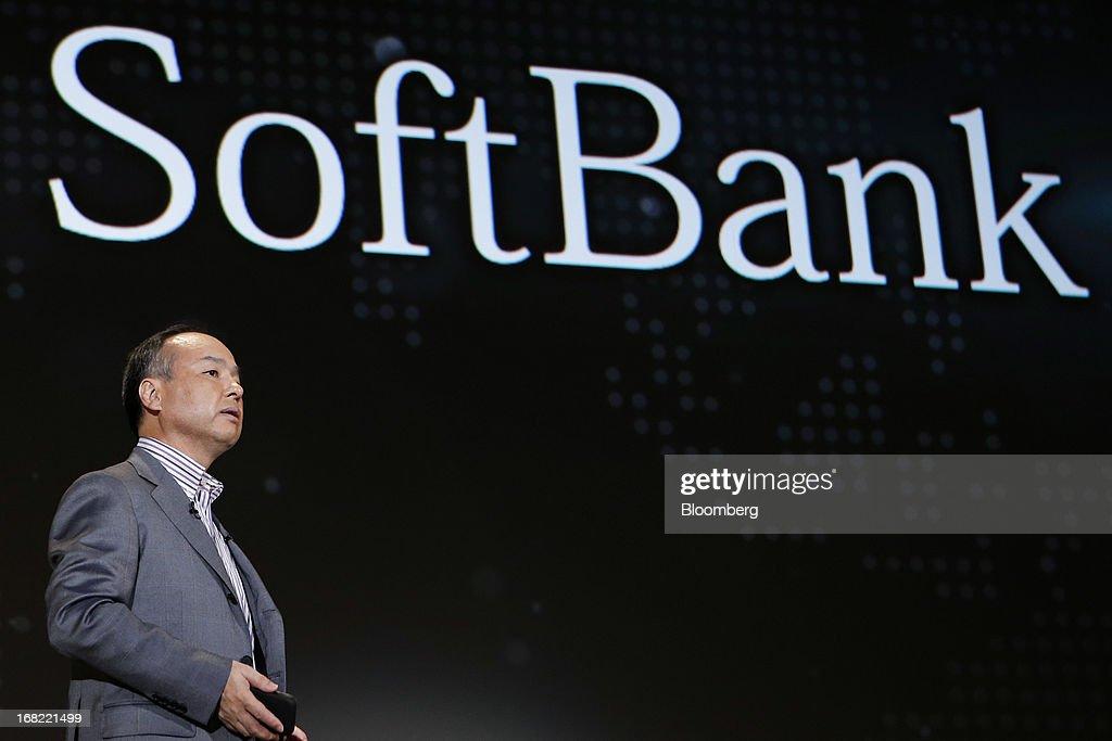 <a gi-track='captionPersonalityLinkClicked' href=/galleries/search?phrase=Masayoshi+Son&family=editorial&specificpeople=632759 ng-click='$event.stopPropagation()'>Masayoshi Son</a>, president of SoftBank Corp., speaks during a product launch in Tokyo, Japan, on Tuesday, May 7, 2013. Son will visit the U.S. to meet with Sprint Nextel Corp. institutional investors to discuss the company's proposed takeover, SoftBank spokesman Mitsuhiro Kurano said today. Photographer: Kiyoshi Ota/Bloomberg via Getty Images