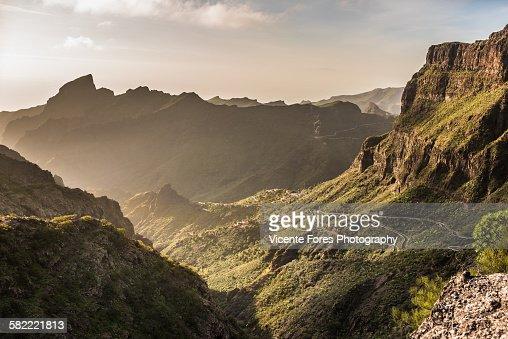 Masca Cliff road