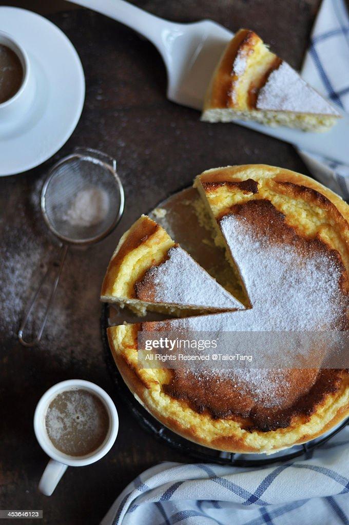 Mascarpone Souffle Cheesecake