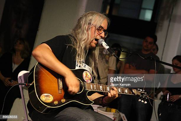 Mascis of Dinosaur Jr performs at PowerHouse Arena in celebration of Matthew Specktor's new book 'That Summertime Sound' on August 4 2009 in Brooklyn...