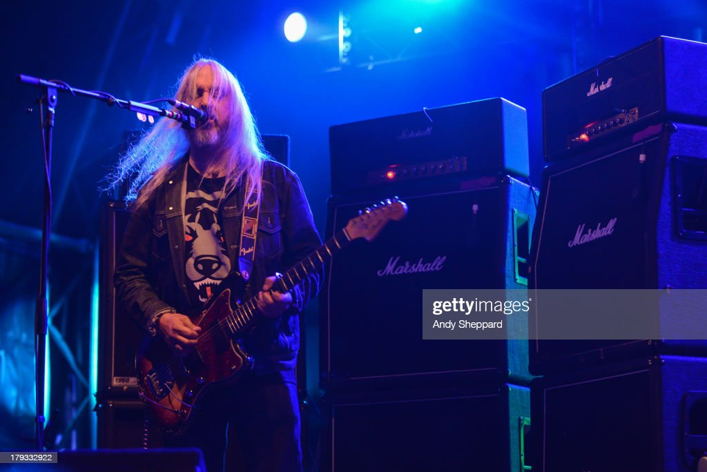 <a gi-track='captionPersonalityLinkClicked' href=/galleries/search?phrase=J+Mascis&family=editorial&specificpeople=2303843 ng-click='$event.stopPropagation()'>J Mascis</a> of the band Dinosaur Jr. performs on stage on Day 3 of End Of The Road Festival 2013 at Larmer Tree Gardens on September 1, 2013 in Salisbury, England.