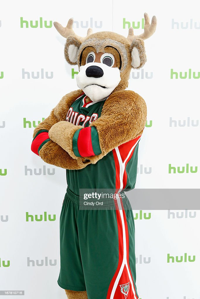 Mascot Bango the Buck attends Hulu NY Press Junket on April 30, 2013 in New York City.