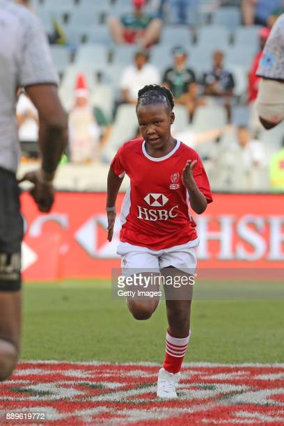 A mascot during the 2017 HSBC Cape Town Sevens at Cape Town Stadium on December 10 2017 in Cape Town South Africa