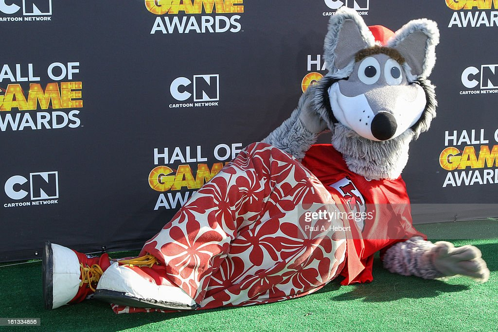 Mascot from Kansas City Chiefs arrives at the 3rd Annual Cartoon Network's 'Hall Of Game' Awards held at Barker Hangar on February 9, 2013 in Santa Monica, California.