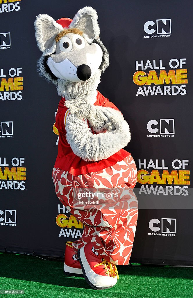 Mascot from the Kansas City Chiefs attends the Third Annual Hall of Game Awards hosted by Cartoon Network at Barker Hangar on February 9, 2013 in Santa Monica, California. 23270_002_JS_0935.JPG