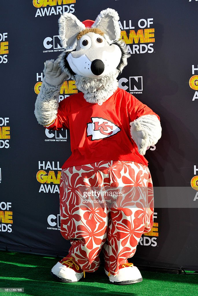 Mascot from the Kansas City Chiefs attendss the Third Annual Hall of Game Awards hosted by Cartoon Network at Barker Hangar on February 9, 2013 in Santa Monica, California. 23270_002_JS_0928.JPG