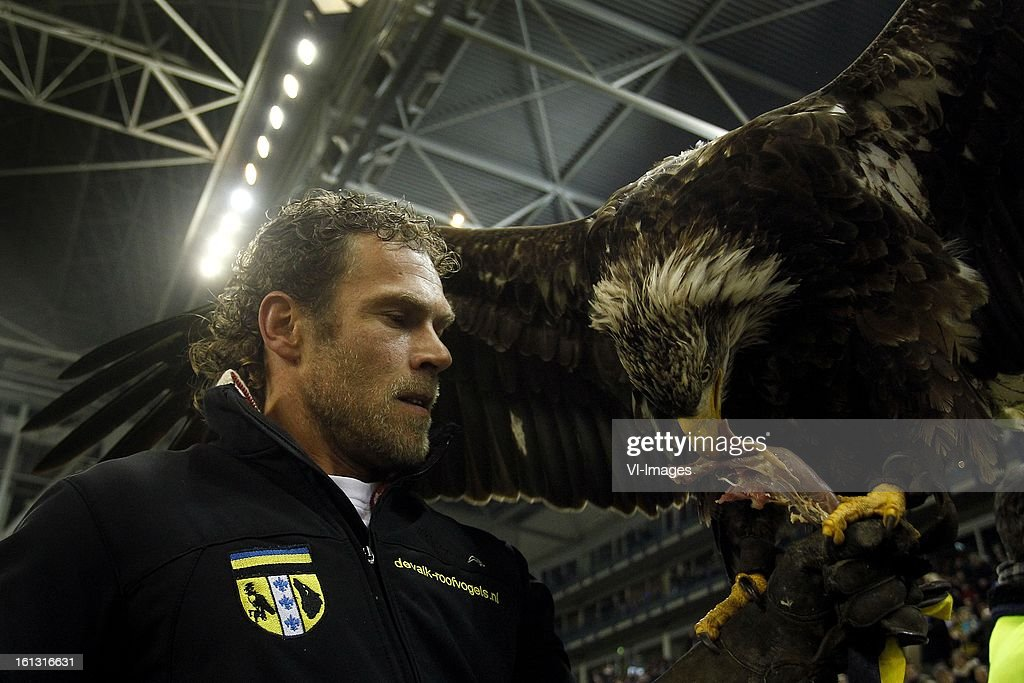 Mascot Hertog of Vitesse during the Dutch Eredivisie match between Vitesse Arnhem and PSV Eindhoven at Gelredome on february 9, 2013 in Arnhem, The Netherlands