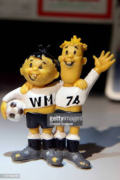 MAscot Tip and Tap of the World Cup 1974 in Germany seen at Borusseum on June 18 2013 in Dortmund Germany The Borusseum is the official museum of...