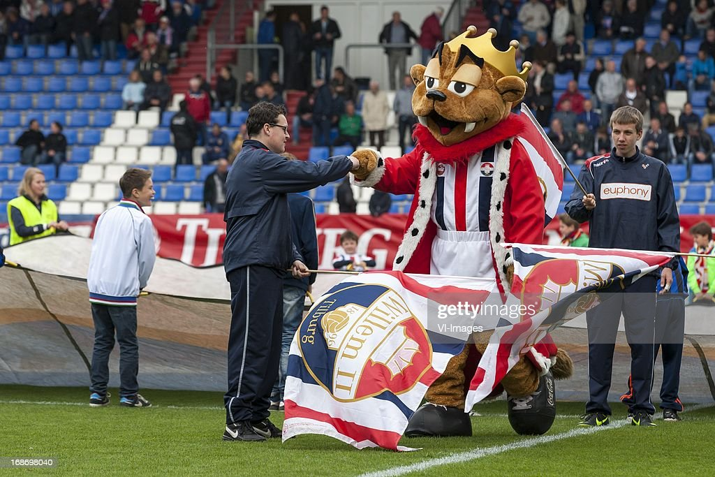 Mascotte of Willem II during the Dutch Eredivisie match between Willem II and AZ Alkmaar on May 12, 2013 at the Koning Willem II stadium in Tilburg, The Netherlands.