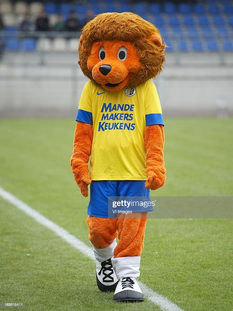 mascotte Rikcy of RKC Waalwijk during the Dutch Eredivisie match between RKC Waalwijk and AZ Alkmaar at the Mandemakers Stadiumon march 03, 2013 in Waalwijk, The Netherlands