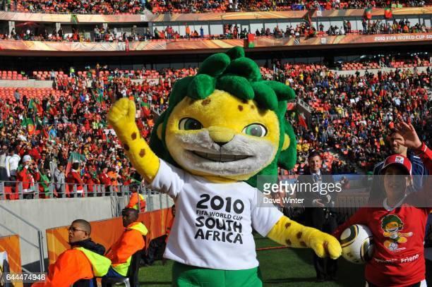 Mascotte ZAKUMI Cote d'Ivoire / Portugal Coupe du Monde 2010 Match 13 Groupe G Nelson Mandela Bay Stadium Port Elizabeth Afrique du Sud Photo Dave...