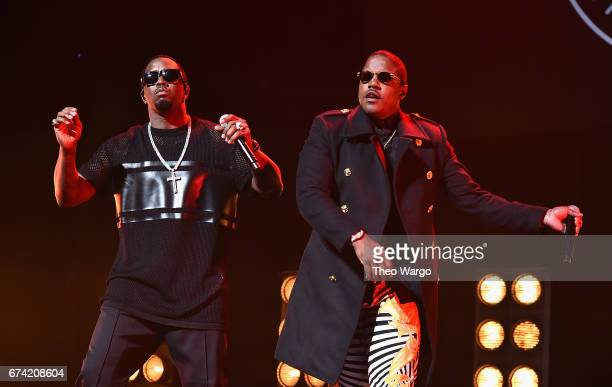 Mase and Sean Combs perform at the 'Can't Stop Won't Stop The Bad Boy Story' Premiere at the Beacon Theatre on April 27 2017 in New York City