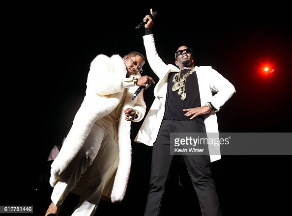 Mase and Sean 'Diddy' Combs perform onstage during the Bad Boy Family Reunion Tour at The Forum on October 4 2016 in Inglewood California