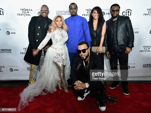 Mase Lil Kim Sean Combs French Montana and Cassie Ventura attend the 'Can't Stop Won't Stop The Bad Boy Story' Premiere on April 27 2017 in New York...