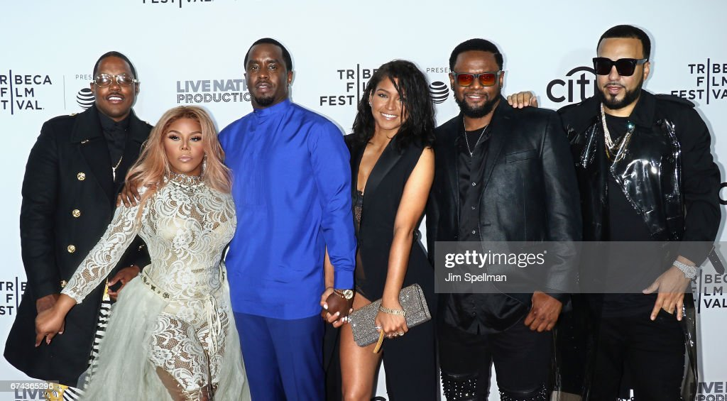 Mase, rapper Lil' Kim, rapper/actor Sean Combs, Dancer Cassie, singer Carl Thomas and French Montana attend the world premiere of 'Can't Stop, Won't Stop: A Bad Boy Story' co-supported by Deleon Tequila during the 2017 Tribeca Film Festiva at Beacon Theatre on April 27, 2017 in New York City.