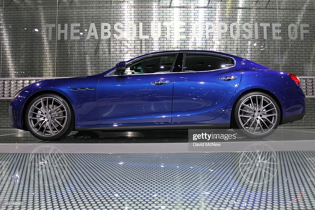 A Maserati Ghibli Q4 is displayed during media preview days at the 2013 Los Angeles Auto Show on November 20, 2013 in Los Angeles, California. The LA Auto Show was founded in 1907 and is one of the largest with more than 20 world debuts expected. The show will be open to the public November 22 through December 1.