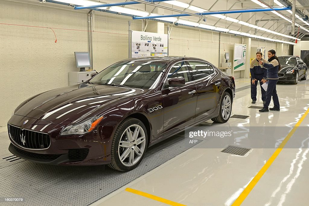 A Maserati luxury car is displayed during the opening of a new plant for the company's luxury brand Maserati on January 30, 2013 in Grugliasco. Italian auto giant Fiat's bosses said they had made 'difficult choices' to continue producing in Italy despite a fall in sales but would not be shutting any plants as feared earlier.